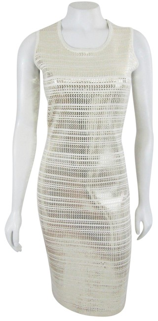 Preload https://img-static.tradesy.com/item/23333777/st-john-gold-new-knits-evening-embellished-paillettes-wool-short-cocktail-dress-size-0-xs-0-1-650-650.jpg