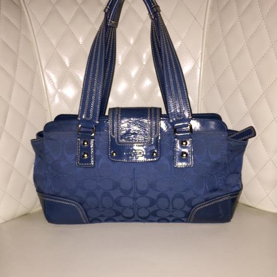 Coach Satchel in Ocean Blue