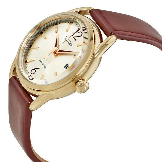 Citizen Drive Champagne Dial Ladies Leather Watch