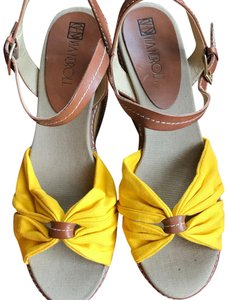 Via Neroli Brown/Yellow Wedges