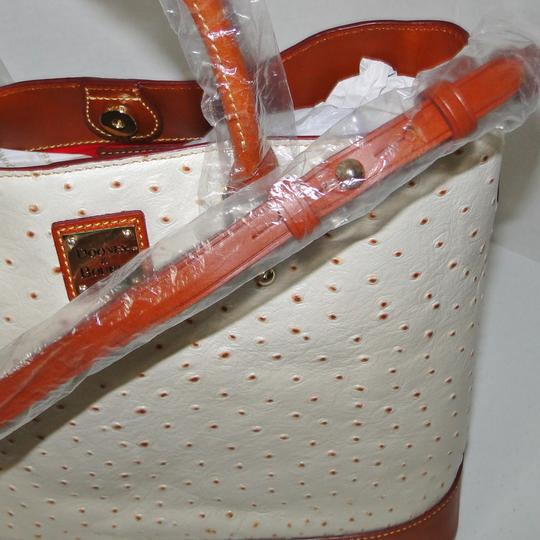 Dooney & Bourke Chlesea Ostrich Leather Tote Shoulder Bag