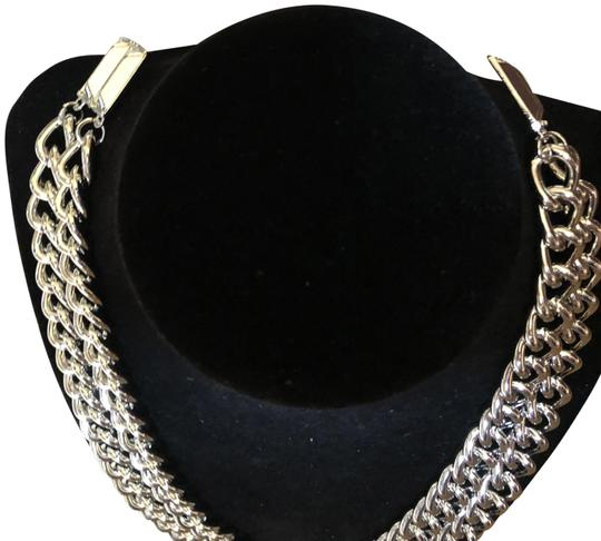 Preload https://item4.tradesy.com/images/bebe-nwt-silver-double-layered-chain-necklace-23333978-0-3.jpg?width=440&height=440