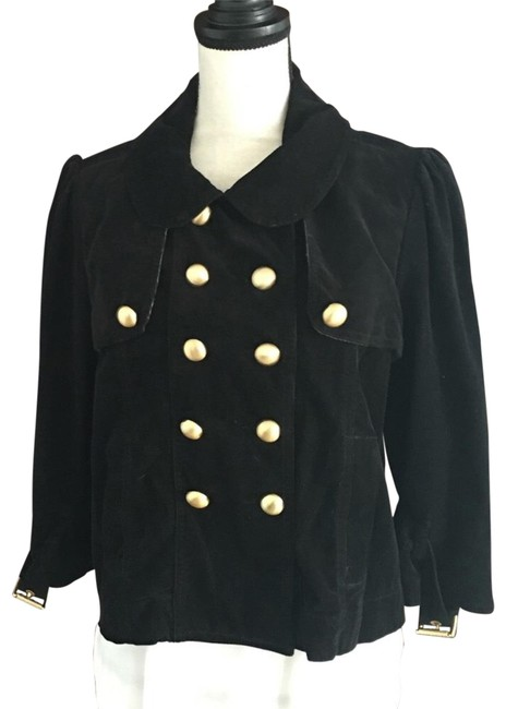 Preload https://item2.tradesy.com/images/juicy-couture-black-gold-stud-corduroy-spring-jacket-size-12-l-23333986-0-1.jpg?width=400&height=650