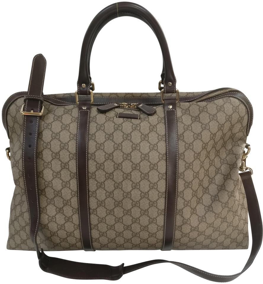 38794a05a71 Gucci Briefcase Carry On Duffle Canvas Weekend Travel Bag - Tradesy