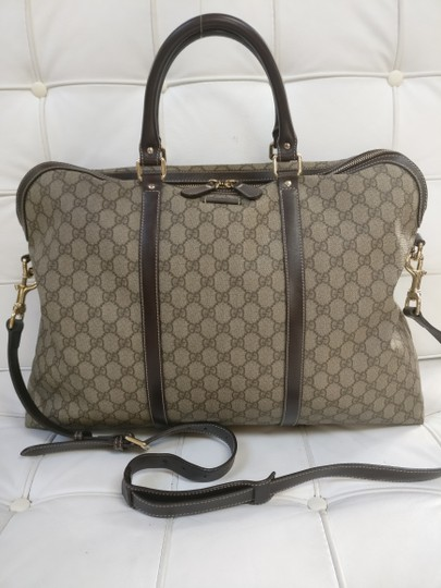 Gucci Gg Monogram Briefcase Duffle Duffle Travel Bag