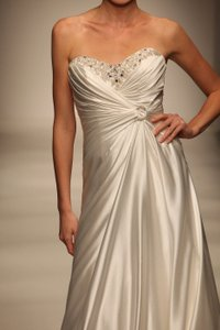 Alfred Angelo Off White Crepe De Chine 849 Destination Wedding Dress Size 20 (Plus 1x)