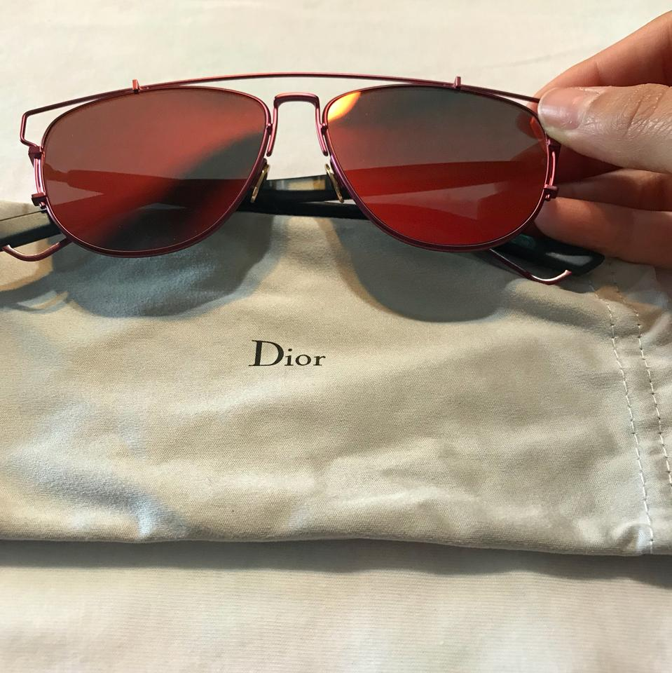 9633a0919a Dior Red Technologic Sunglasses - Tradesy