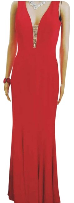Preload https://item4.tradesy.com/images/xscape-red-beaded-gown-long-formal-dress-size-4-s-23334103-0-1.jpg?width=400&height=650