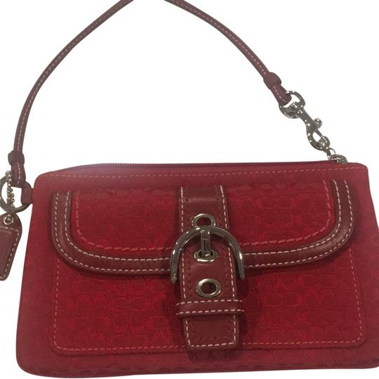 Preload https://item3.tradesy.com/images/coach-red-signature-ref-canvass-and-leather-wristlet-23334107-0-1.jpg?width=440&height=440