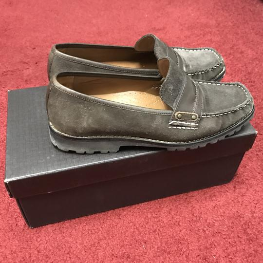 Cole Haan Suede Dark Chocolate Box Travel Bag Brown Flats