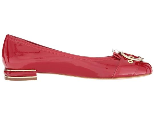 Stuart Weitzman Patent Leather Leather Red Flats