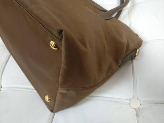 Prada Flap Bn2106 Tessuto Satchel Tote in Brown