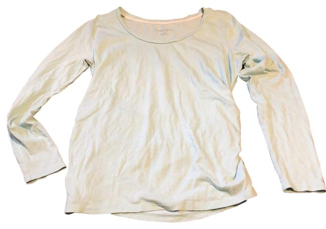 Item - Pale Mint Green Classic Soft Long Sleeve Tee Maternity Top Size 12 (L)