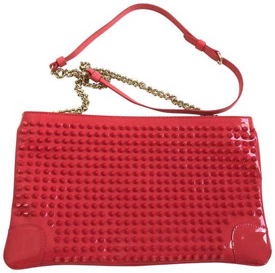 Preload https://item3.tradesy.com/images/christian-louboutin-loubiposh-studded-red-leather-clutch-23334212-0-1.jpg?width=440&height=440