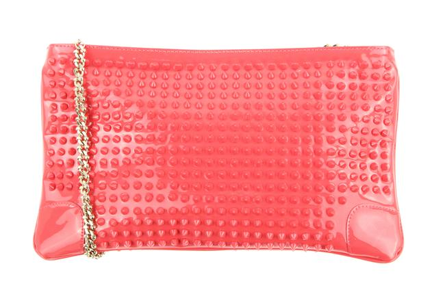 Item - Loubiposh Studded Pink Patent Leather Clutch