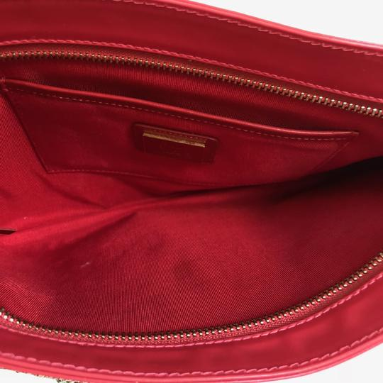 Christian Louboutin Loubiposh Studded Leather Red Clutch