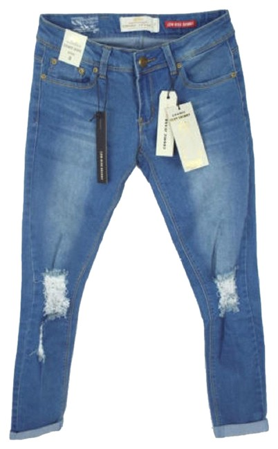 Preload https://img-static.tradesy.com/item/23334228/blue-distressed-sexy-fit-skinny-jeans-size-28-4-s-0-1-650-650.jpg