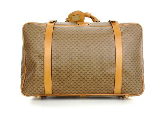 Preload https://item5.tradesy.com/images/gucci-full-size-suitcase-luggage-brown-supreme-micro-gg-monogram-canvas-leather-weekendtravel-bag-23334234-0-0.jpg?width=440&height=440