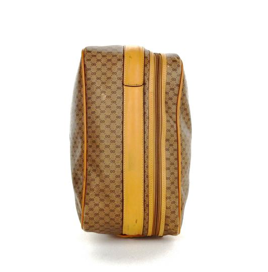 Gucci Suitcase Luggage Italy Vintage Brown Travel Bag