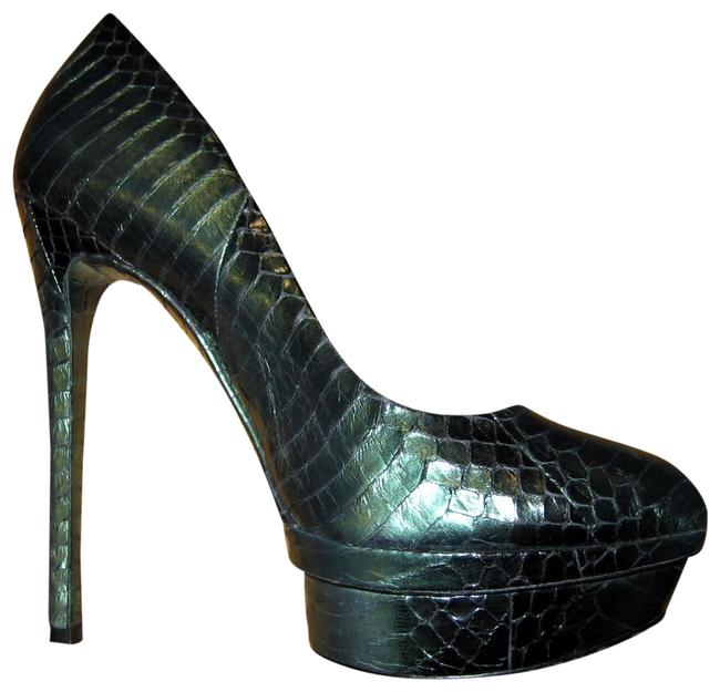 Brian Atwood Green Python Fontanne Pumps Size US 8 Regular (M, B) Brian Atwood Green Python Fontanne Pumps Size US 8 Regular (M, B) Image 1