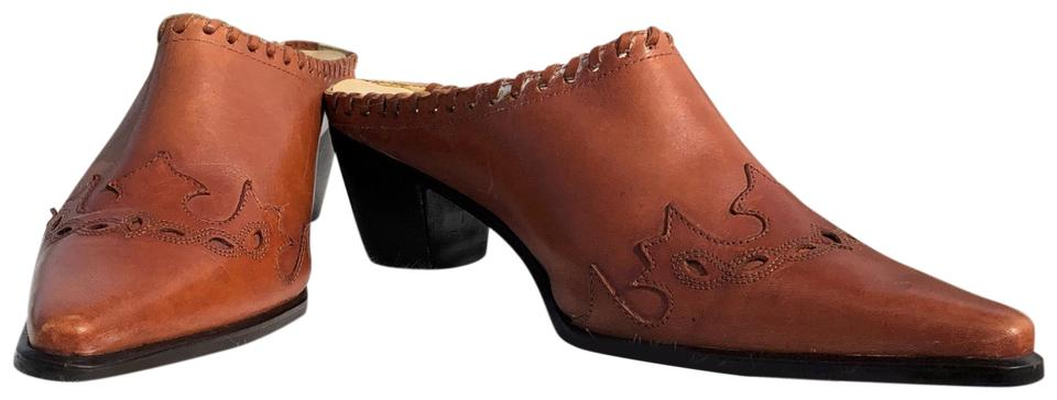 LADY Acme Brown Complete Vintage Western Mules/Slides Complete Brown specification area 43da01