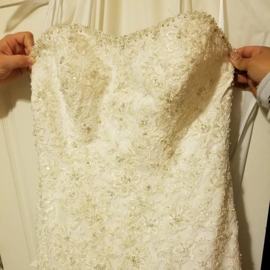 Anjolique Ivory Tulle Lace Satin Allure 2613f Formal Wedding Dress Size 18 (XL, Plus 0x)