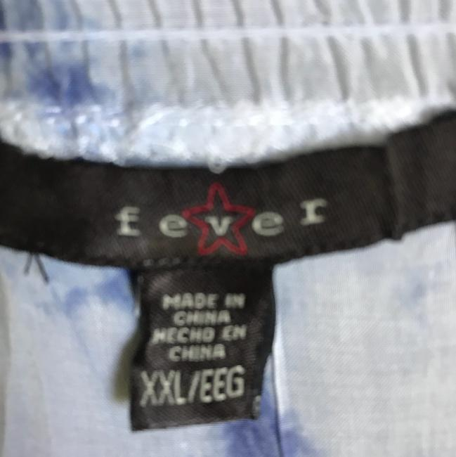 Fever Button Down Shirt White and Blue