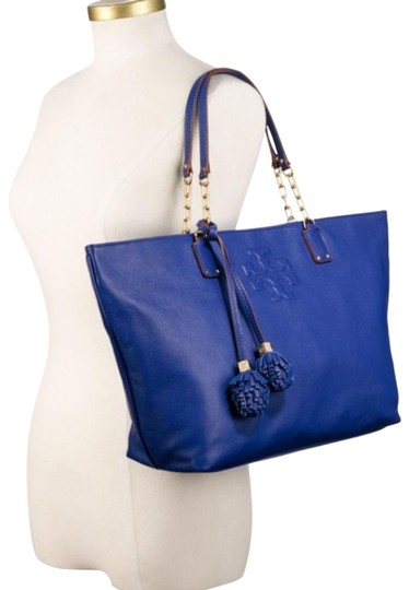 Preload https://item2.tradesy.com/images/tory-burch-thea-royal-ocean-blue-pebble-leather-tote-23334326-0-2.jpg?width=440&height=440