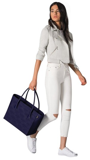 Preload https://item2.tradesy.com/images/legend-blue-coated-canvas-genuine-leather-trim-tote-23334346-0-1.jpg?width=440&height=440