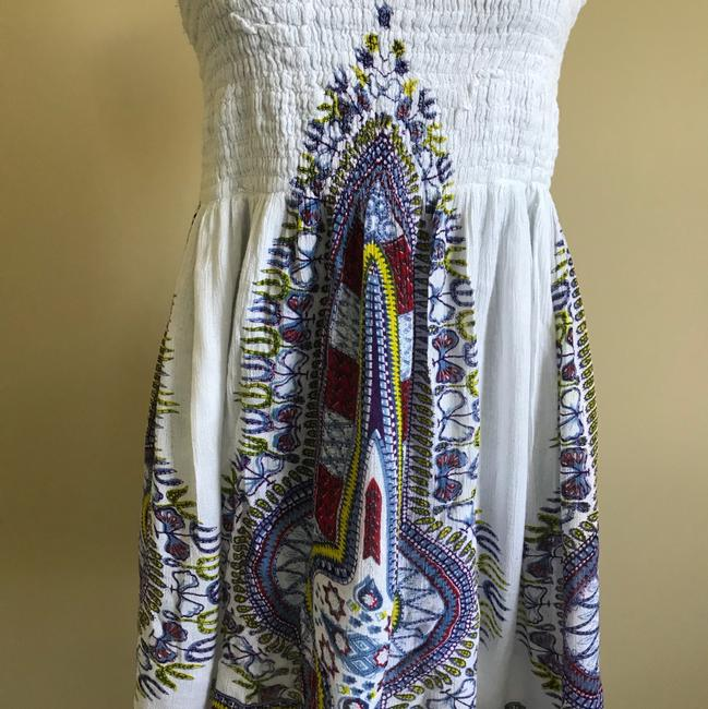 Other short dress White with multi colored pattern on Tradesy