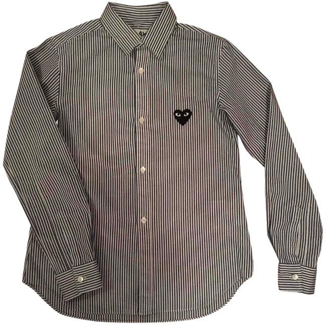 Preload https://img-static.tradesy.com/item/23334422/comme-des-garcons-play-heart-embroidered-button-button-down-top-size-4-s-0-1-650-650.jpg