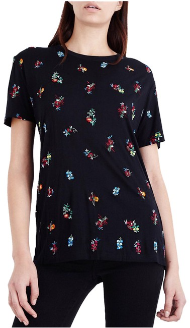 Preload https://item1.tradesy.com/images/the-kooples-black-floral-embroidered-sport-jersey-tee-shirt-size-2-xs-23334425-0-1.jpg?width=400&height=650