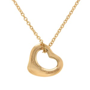 Tiffany & Co. Tiffany & Co. 18K Rose Gold Peretti 11mm Open Heart Necklace