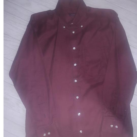 Burberry London Houndstooth Maroon and Black Shirt