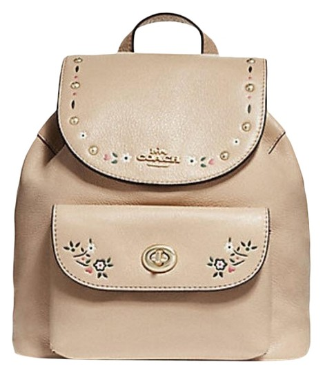 Preload https://item5.tradesy.com/images/coach-billie-mini-with-floral-tooling-f25895-nude-pink-leather-backpack-23334449-0-1.jpg?width=440&height=440