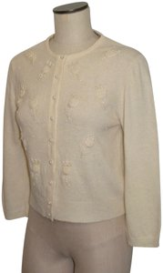 Odille Vintage Kitten Sweater Cashmere Classic Cardigan