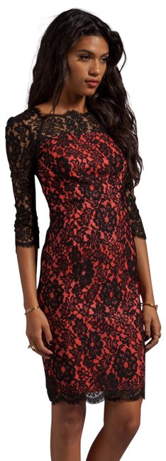 Preload https://item2.tradesy.com/images/milly-of-new-york-black-stella-lace-overlay-and-pink-short-casual-dress-size-4-s-23334486-0-2.jpg?width=400&height=650