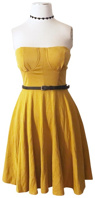 Preload https://item5.tradesy.com/images/alythea-strapless-belted-retro-boho-pockets-flared-mustard-short-night-out-dress-size-4-s-23334519-0-1.jpg?width=400&height=650