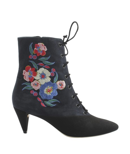 Tory Burch Ankle Suede BlackxBlue Boots