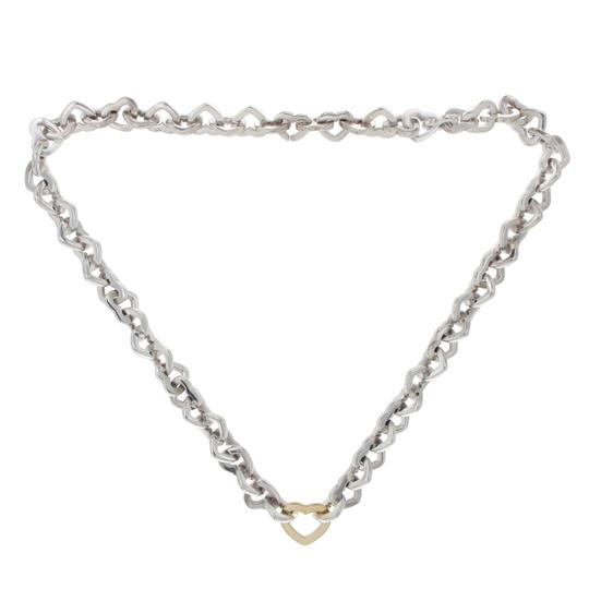Preload https://item3.tradesy.com/images/tiffany-and-co-18k-gold-sterling-silver-hearts-link-necklace-23334537-0-0.jpg?width=440&height=440