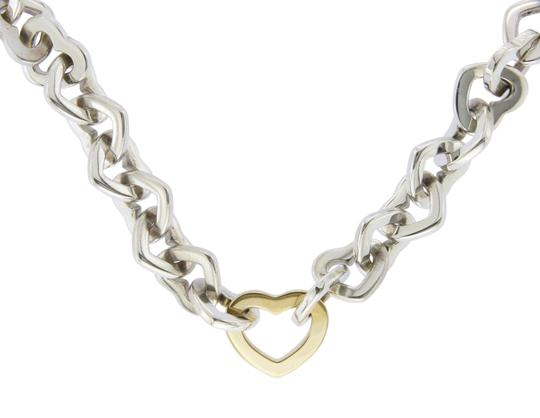 Tiffany & Co. Tiffany & Co. 18K Gold & Sterling Silver Hearts Link Necklace