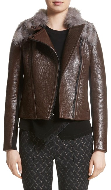 Preload https://item2.tradesy.com/images/yigal-azrouel-brown-new-moto-bonded-leather-removable-fox-collar-fur-jacket-size-10-m-23334541-0-1.jpg?width=400&height=650