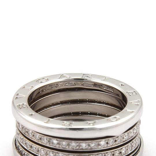 BVLGARI Bulgari B Zero-1 Diamond 18k White Gold 11mm Band Ring Size 56-US 7.5