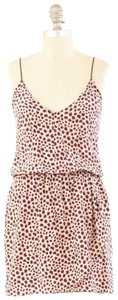 Karina Grimaldi Leopard Silk Mini Dress