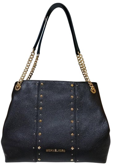 Preload https://item2.tradesy.com/images/michael-kors-jet-set-chain-stud-shoulder-raven-black-leather-tote-23334656-0-1.jpg?width=440&height=440