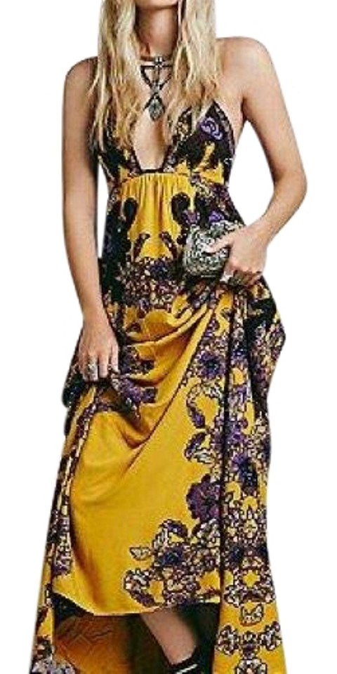 Casual Cantik Womens Mustard Maxi Dress People Free CwIq840x8