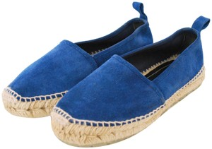Balenciaga Seude Leather blue Flats