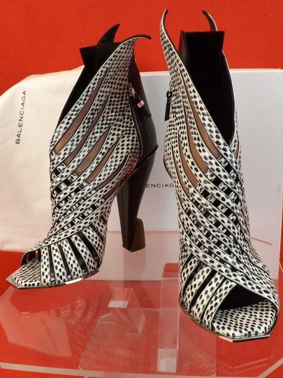 Balenciaga Black Grey Python Pumps