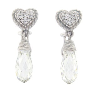 Judith Ripka Judith Ripka 925 Sterling Silver Crystal & CZ Earrings
