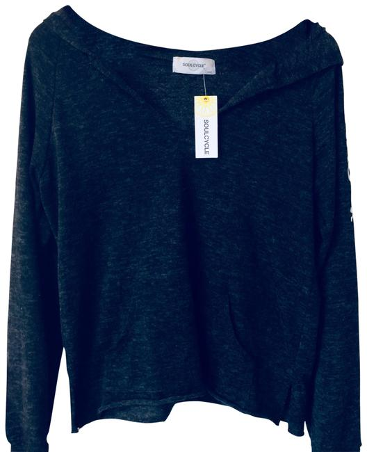 Item - Gray Texas Cashmere V-neck Pullover Hoodie S Activewear Top Size 6 (S)